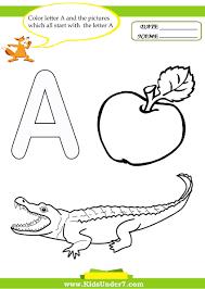 free online color by letter worksheets for kindergarten 84 with