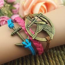 love braid bracelet images Unique hand chain bird anchor arrow bracelet wax love chain 37848