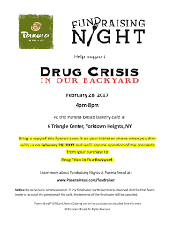 drug crisis in our backyard fundraising night at panera bread