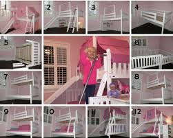 little girls princess bedroom transforms to big twin over