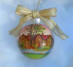 custom house ornament handpainted personalized house
