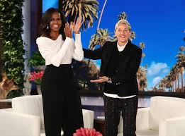 does michelle obama wear hair pieces michelle obama talks life after the white house on ellen people com