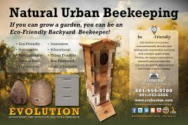 new poster for the mini urban beehive for backyard beekeeping by