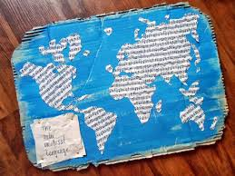 World Map Fabric by Beyond The Cookie Cutter