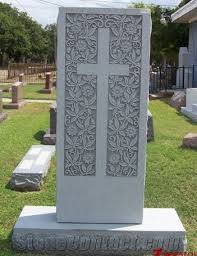tombstone engraving cheap price style with cross and flower engraving