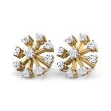 diamond earrings india contemporary nine diamond studs jewellery india online