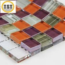 buy glass mosaics tiles kitchen backsplash mixed colorful orange