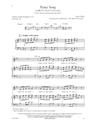 peace song satb by greg gilpin j w pepper sheet