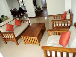 Wooden Living Room Sets Teak Daybed Living Room Minimalist Small Room Teak Furnitures
