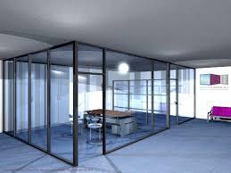 bureau vitre types de configuration en vue 3d espace cloisons alu ile de
