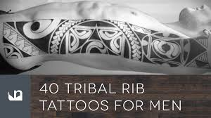 40 tribal rib tattoos for