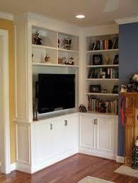 Built In Tv Bookcase Built In Corner Entertainment Center Entertainment Living Rooms