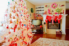 Living Room White Christmas Decorations by Living Room White Christmas Tree Decorating Ideas Jewcafes