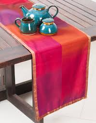 buy fabindia home u0026 gifts silk cotton chanderi woven table runner