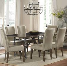 Fabric Chairs For Dining Room Outstanding Dining Room Table With Fabric Chairs 85 With