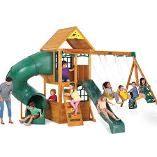 big backyard montrose premium collection wood swing set on shopsavvy