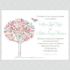 print your own wedding invitations flower tree print your own wedding invitations