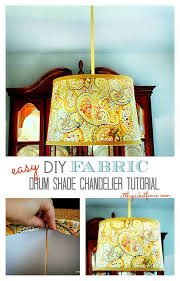 Drum Shade Chandelier Lighting Drum Shade Chandelier Tutorial At The Picket Fence