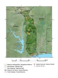 Eros Map The Republic Of Togo West Africa
