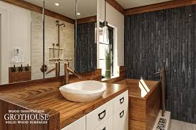 Bathroom Countertop Options Wood Countertop Options Wood Countertop Butcherblock And Bar
