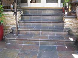 Concrete Step Resurfacing Products by Perhaps We Could Tile Over Our Concrete Steps With Slate Tile