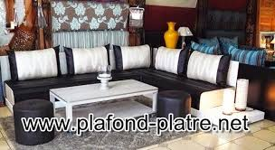 tissu canapé marocain tissus salon marocain design moderne plafond platre