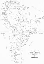 Labeled South America Map by An Accidental U201cword Map U201d Of South America Published By The