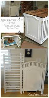 Repurposed Crib Dog Crate Dog Crate Crates And Stylish