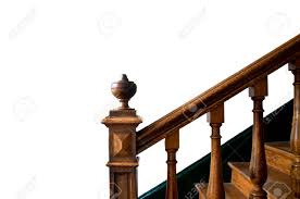 Wooden Handrail Old Wooden Staircase With Handrail Stock Photo Picture And
