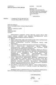 contoh surat lamaran kerja dengan cq seleksi penerimaan calon praja ipdn ta 2013 2014 badan kepegawaian