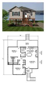 Small 2 Bedroom House Plans Garage Apartment Plan 64817 Total Living Area 1068 Sq Ft 2
