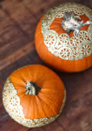 17 apart diy pumpkin decorating golden doily pumpkins