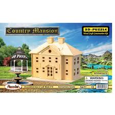 country mansion woodcraft construction kit 3d puzzle country mansion