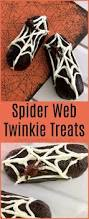 fun halloween treats for kids spider web twinkies
