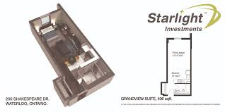 Bachelor Apartment Floor Plan by 200 Shakespeare Dr Greenwin