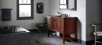 Modern Walnut Bathroom Vanity by Bathroom Vanities Bathroom Kohler