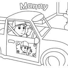 handy manny friends coloring handy manny friends