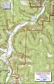 First Landing State Park Trail Map by Buffalo River Trail Western Section Free Detailed Topo Map