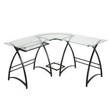 computer desk l shaped glass aline furniture a line furniture