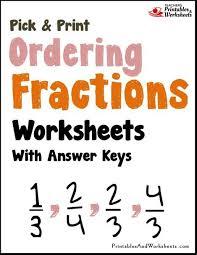 ordering fractions worksheets printables u0026 worksheets