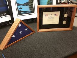 3x5 Flag Display Case With Certificate Display Case For A Military Honors Flag 20 Steps