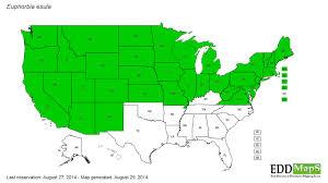 edd maps leafy spurge euphorbia esula eddmaps state distribution