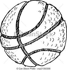 clipart vector of basketball ball sketch doodle hand drawn