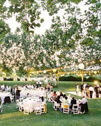 Backyard Wedding Setup Ideas Outdoor Wedding Lighting Ideas From Real Celebrations Martha