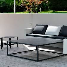 contemporary coffee table stainless steel square garden
