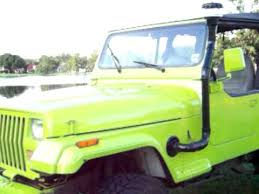 jeep yj snorkel mean green 1988 jeep wrangler lifted w homemade snorkel youtube