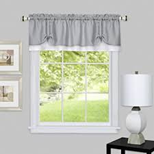 Kitchen Kitchen Curtain Sets Standard by Amazon Com Achim Home Furnishings Darcy Window Curtain Valance