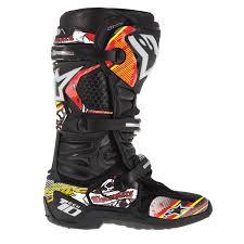 motocross bike boots alpinestars tech 10 red yellow motocross bike boots graphics decal