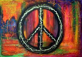 Black Purple Pink Green Peace by Peace Sign By Laura Barbosa In Hippe Peace Art On Laura Barbosa U0027s