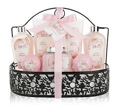 spa gift baskets for women spa gift basket with heavenly cherry blossom fragrance bath set